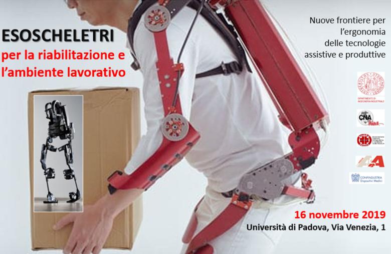ESOSCHELETRI PER LA RIABILITAZIONE E L'AMBIENTE LAVORATIVO -evento ECM 16 novembre 2019 a Padova